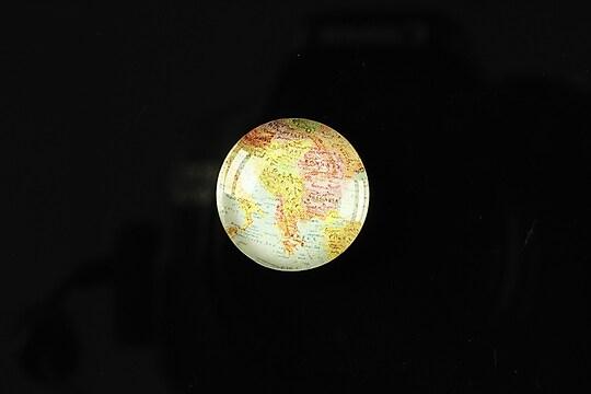 "Cabochon sticla 18mm ""Vintage world map"" cod 111"