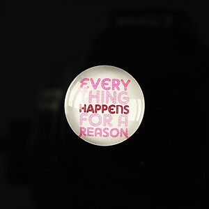 "Cabochon sticla 18mm ""Life quotes"" cod 128"
