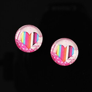"Cabochon sticla 14mm ""Love actually"" cod 148"