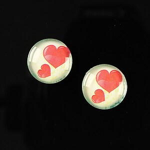 "Cabochon sticla 14mm ""Love actually"" cod 149"