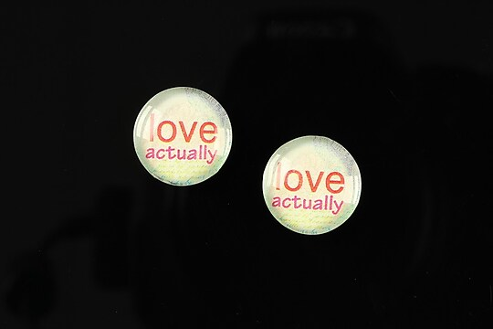 "Cabochon sticla 14mm ""Love actually"" cod 150"