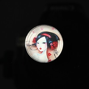 "Cabochon sticla 20mm ""Once upon a time"" cod 152"