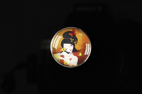 "Cabochon sticla 20mm ""Once upon a time"" cod 153"
