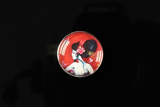 "Cabochon sticla 20mm ""Once upon a time"" cod 154"