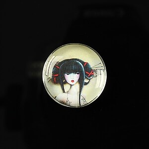 "Cabochon sticla 20mm ""Once upon a time"" cod 155"
