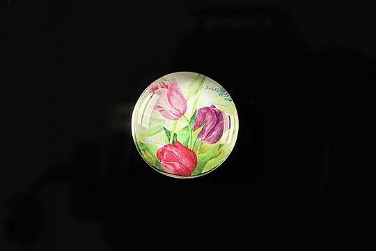 "Cabochon sticla 20mm ""Amazing tulips"" cod 156"