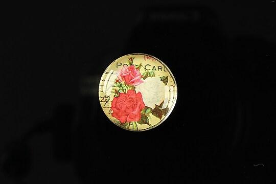 "Cabochon sticla 20mm ""Amazing roses"" cod 158"