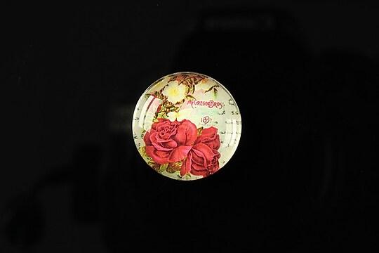 "Cabochon sticla 20mm ""Amazing roses"" cod 159"