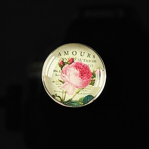 "Cabochon sticla 20mm ""Amazing roses"" cod 161"