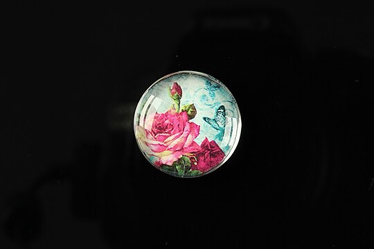 "Cabochon sticla 20mm ""Amazing roses"" cod 162"