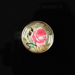 "Cabochon sticla 20mm ""Amazing roses"" cod 163"
