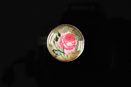 "Cabochon sticla 20mm ""Amazing roses"" cod 163"