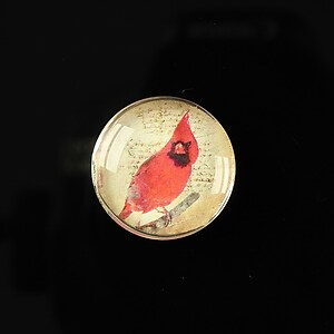 "Cabochon sticla 20mm ""Loving red"" cod 165"