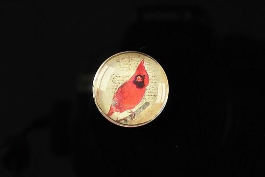 "Cabochon sticla 20mm ""Loving red"" cod 165"