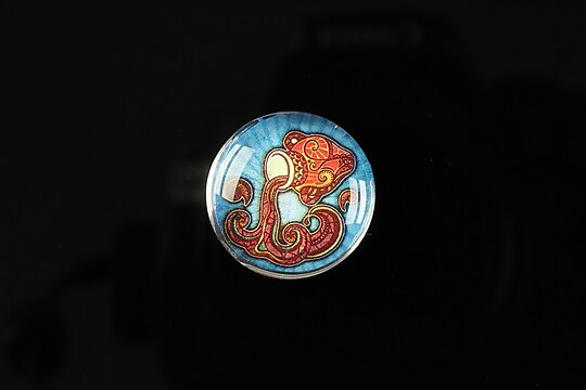 "Cabochon sticla 20mm ""Tribal zodiac"" varsator cod 169"