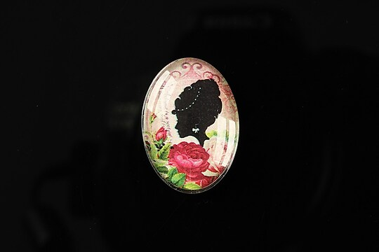 "Cabochon sticla 25x18mm ""Journey in the past"" cod 190"