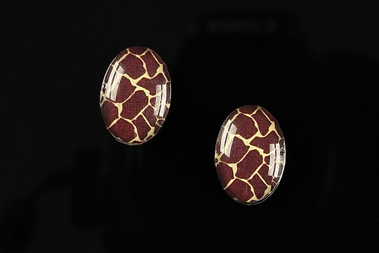 "Cabochon sticla 18x13mm ""Animal print"" cod 214"