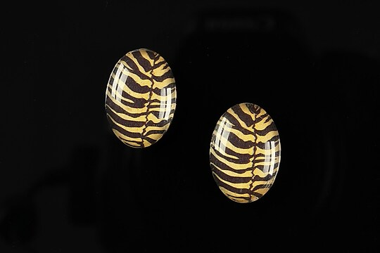 "Cabochon sticla 18x13mm ""Animal print"" cod 217"