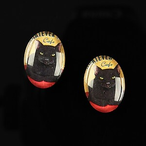 "Cabochon sticla 18x13mm ""Best friends"" cod 229"