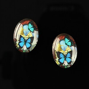 "Cabochon sticla 18x13mm ""Butterfly effect"" cod 236"