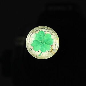 "Cabochon sticla 18mm ""Spring luck"" cod 259"