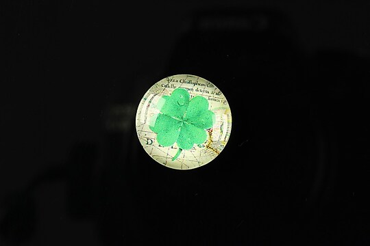 """Cabochon sticla 18mm """"Spring luck"""" cod 259"""