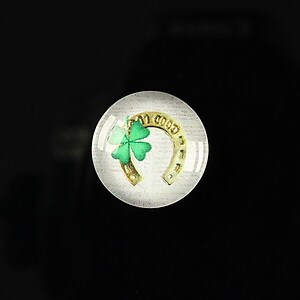 "Cabochon sticla 18mm ""Spring luck"" cod 258"