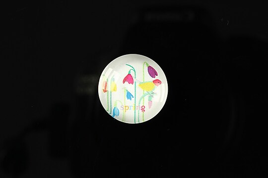 "Cabochon sticla 18mm ""Spring luck"" cod 255"