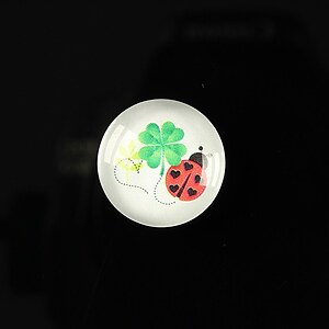 "Cabochon sticla 18mm ""Spring luck"" cod 254"