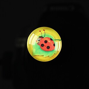 "Cabochon sticla 18mm ""Spring luck"" cod 253"