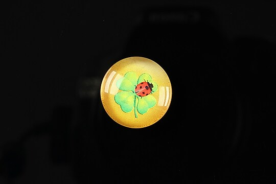 "Cabochon sticla 18mm ""Spring luck"" cod 252"