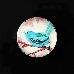 "Cabochon sticla 25mm ""Bird collection"" cod 267"