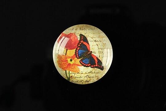 "Cabochon sticla 25mm ""Butterfly simphony"" cod 265"