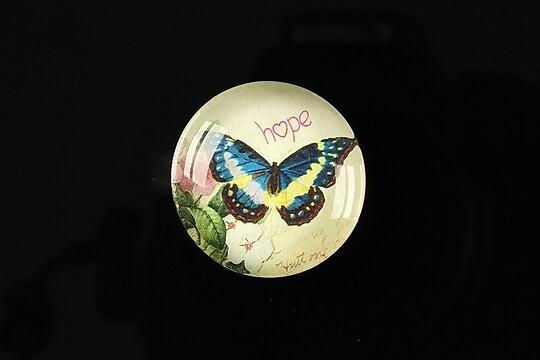 "Cabochon sticla 25mm ""Butterfly simphony"" cod 264"