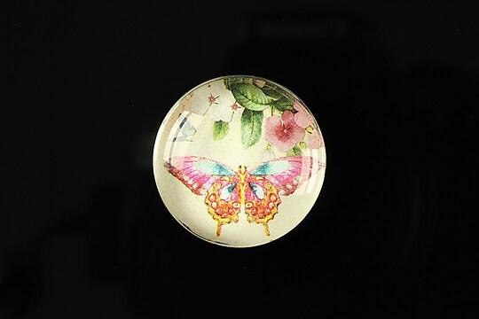"Cabochon sticla 25mm ""Butterfly simphony"" cod 263"