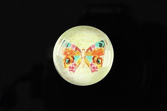 "Cabochon sticla 25mm ""Butterfly simphony"" cod 262"