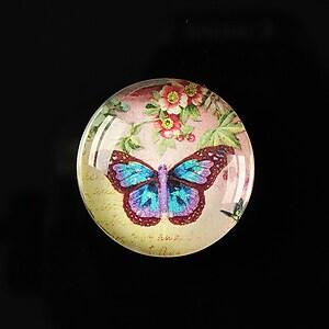 "Cabochon sticla 25mm ""Butterfly simphony"" cod 261"