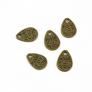 "Charm bronz ""made for you"" 11x8mm"
