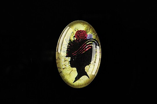 "Cabochon sticla 30x20mm ""Woman portrait"" cod 293"