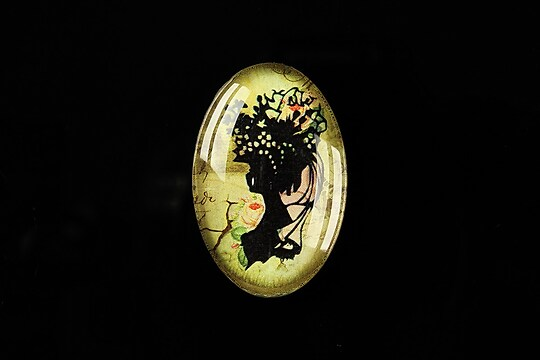 "Cabochon sticla 30x20mm ""Woman portrait"" cod 290"