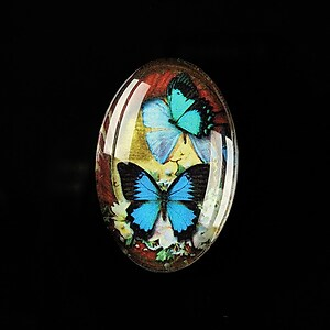 "Cabochon sticla 30x20mm ""Past world"" cod 289"