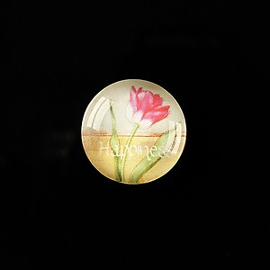 "Cabochon sticla 18mm ""Flower symbol"" cod 307"