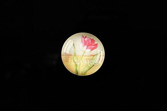 """Cabochon sticla 18mm """"Flower symbol"""" cod 307"""