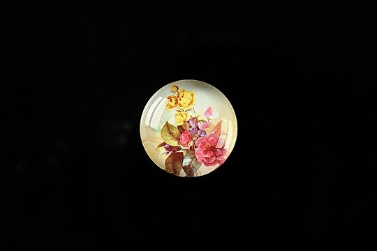"Cabochon sticla 18mm ""Magic of a flower"" cod 310"