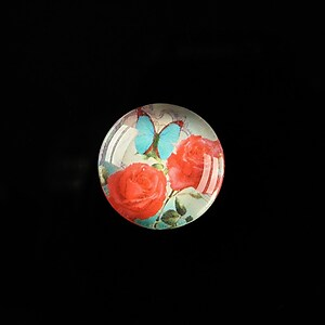 "Cabochon sticla 18mm ""Magic of a flower"" cod 313"