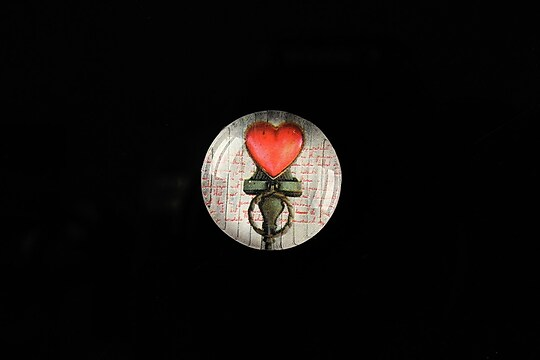 "Cabochon sticla 18mm ""Love letters"" cod 314"