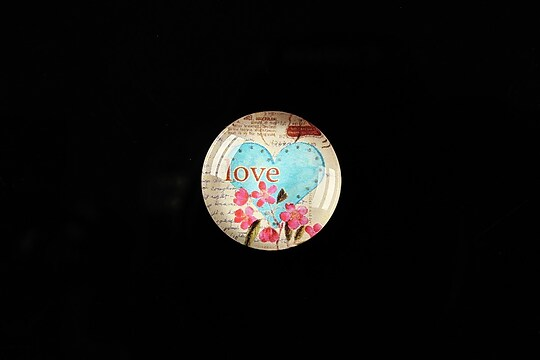"Cabochon sticla 18mm ""Love letters"" cod 315"