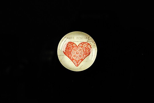 "Cabochon sticla 18mm ""Love letters"" cod 316"