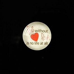 "Cabochon sticla 18mm ""Love letters"" cod 317"