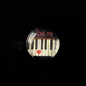 "Cabochon sticla 18mm ""Love letters"" cod 319"